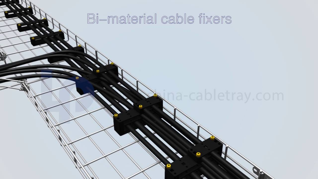 Installation of Cable Fixers for Wire Mesh Cable Tray - YouTube