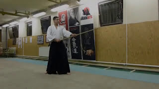 katate hachinoji gaeshi- jo [TUTORIAL] Aikido basic weapon technique/ katate no bu
