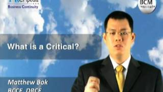 BCM Institute, BCMpedia  - What is a Critical?