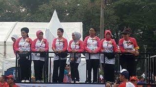 ANTARANEWS - Ibu Iriana Jokowi lepas lomba lari Kartini Run 2018