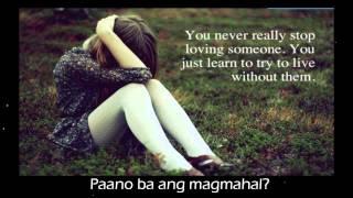 """Break-up playlist theme song """"paano ba ang magmahal"""""""