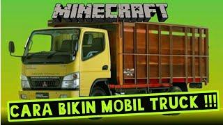 Minecraft Cara Membuat Mobil Truck PC | PE