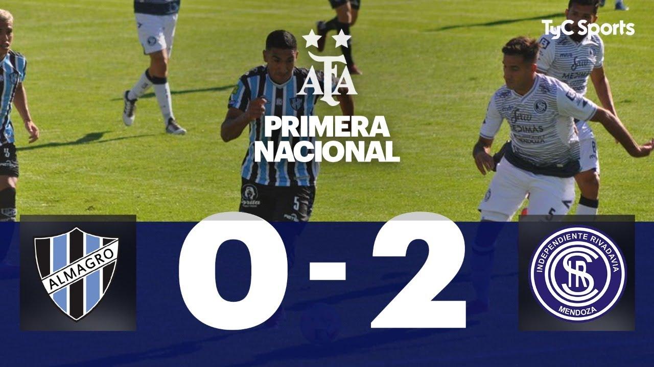 Almagro 0-2 Independiente Rivadavia | Primera Nacional