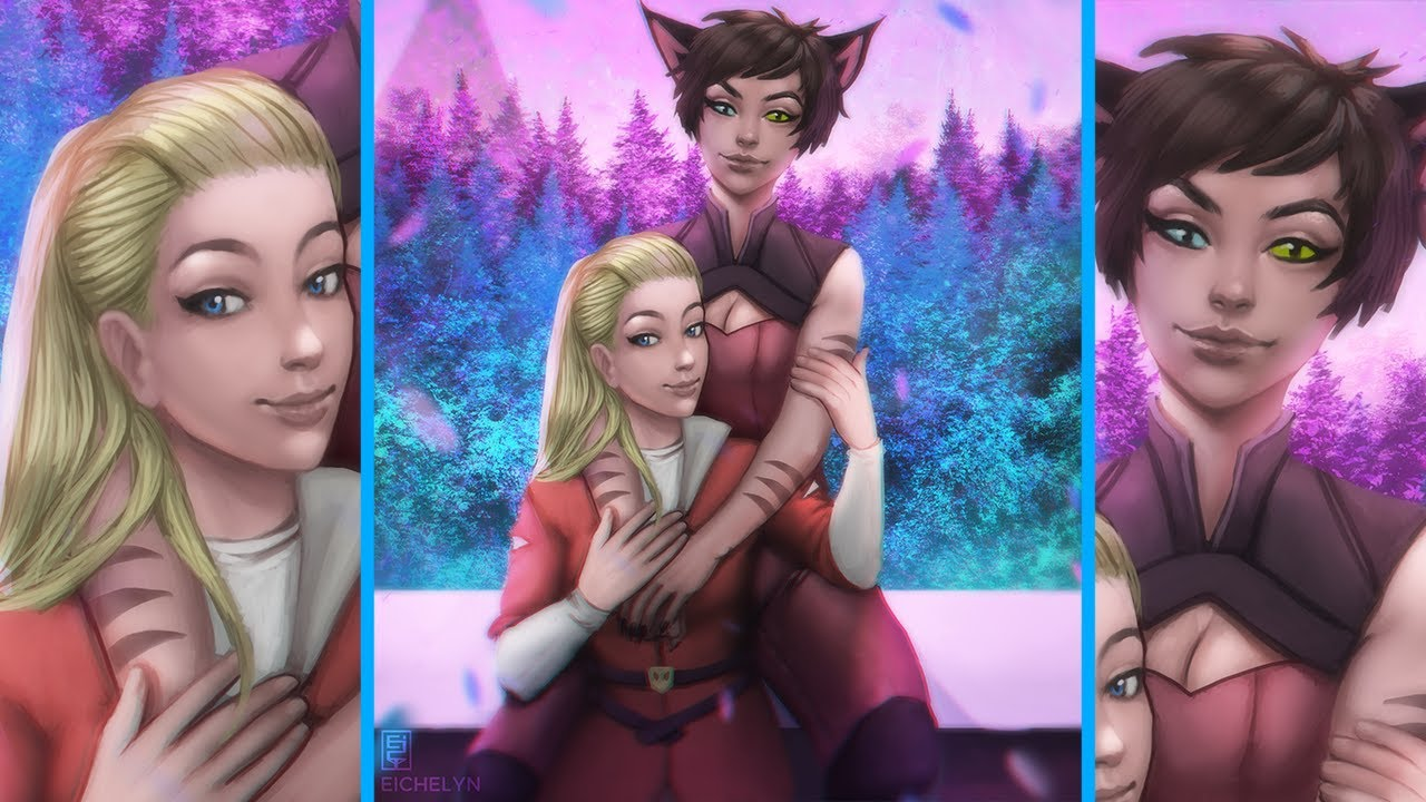 Timelapse 44 Catra And Adora Fan Art She Ra And The Princesses