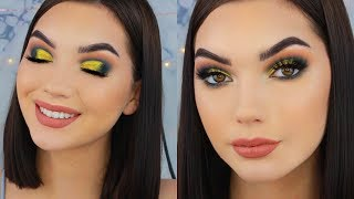 NAVY BLUE & GOLD PROM MAKEUP LOOK