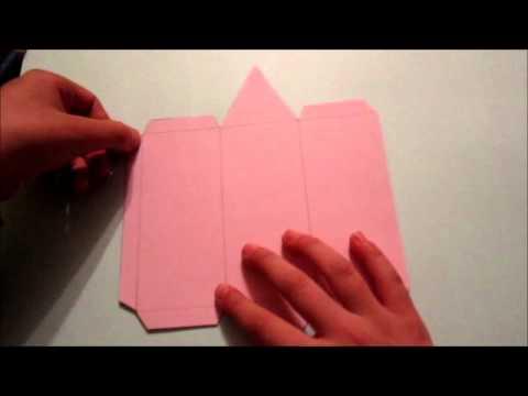 Como hacer un prisma de base triangular youtube for Como hacer un sobre rectangular