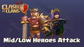Clash Of Clans | Low Heroes Attack Part 4 - Goho; M4X Golaloon