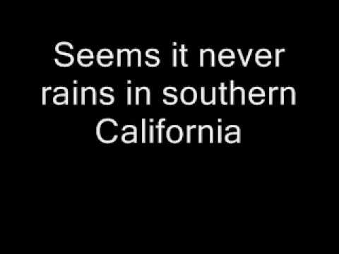 Albert Hammond  It never rains in southern California + text