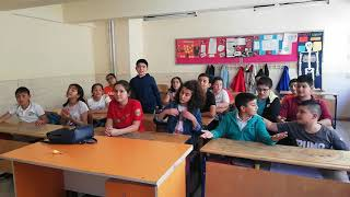 Kozaklı Mehmet Akif Ersoy Ortaokulu 6. Sınıflarımız ile Anı Şarkı etkinliğimiz.