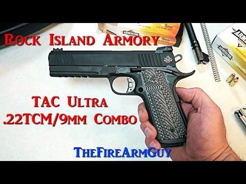 rock island armory tac ultra 22 tcm 9mm combo thefirearmguy youtube
