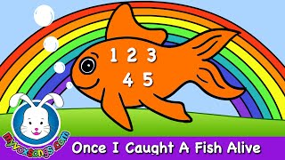Repeat youtube video Once I Caught a Fish Alive - nursery rhymes and baby songs