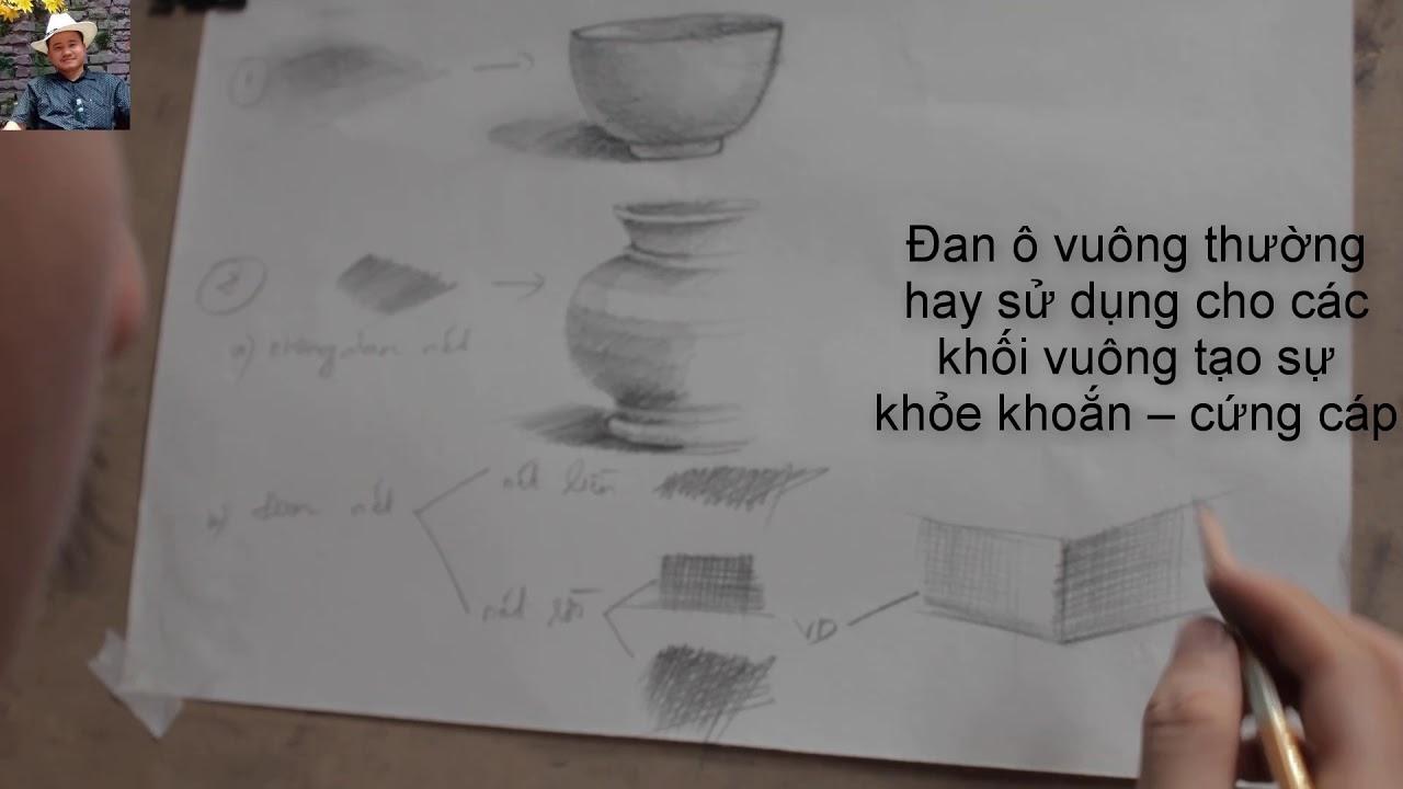Hướng dẫn cách đánh bóng trong vẽ chì- Hình họa căn bản