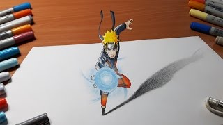 Drawing Naruto - Rasengan in 3D