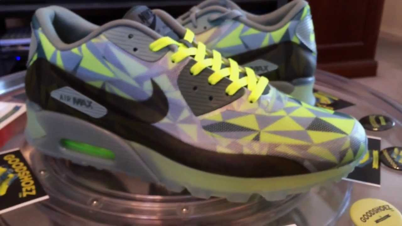 Nike Air Max 90 ICE Volt Mica Green with Volt lace swap 2 23 14