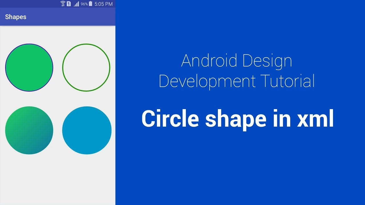 Create circular shape in XML - Android