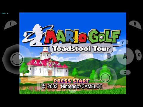 gamecube for ios- Mario Golf (Menu Test) gc4ios, dolphin emulator for ios