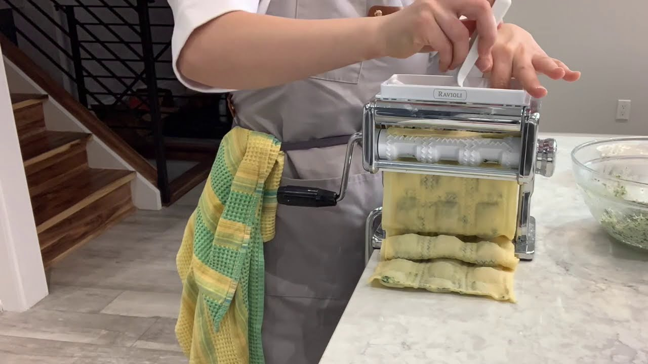 how to make ravioli with marcato atlas 150 ravioli attachment
