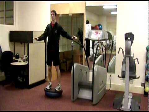 BOSU Ball Exercise: Squats (Black Side)  | Seattle Athletic Club Downtown