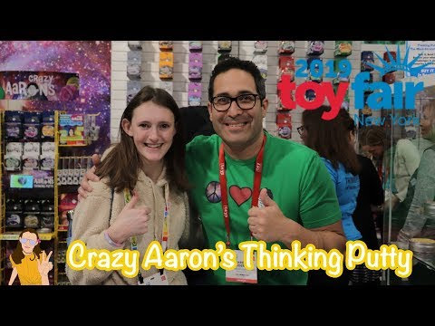 Toy Fair 2019 NEW Crazy Aaron's Thinking Putty! | Kelli Maple