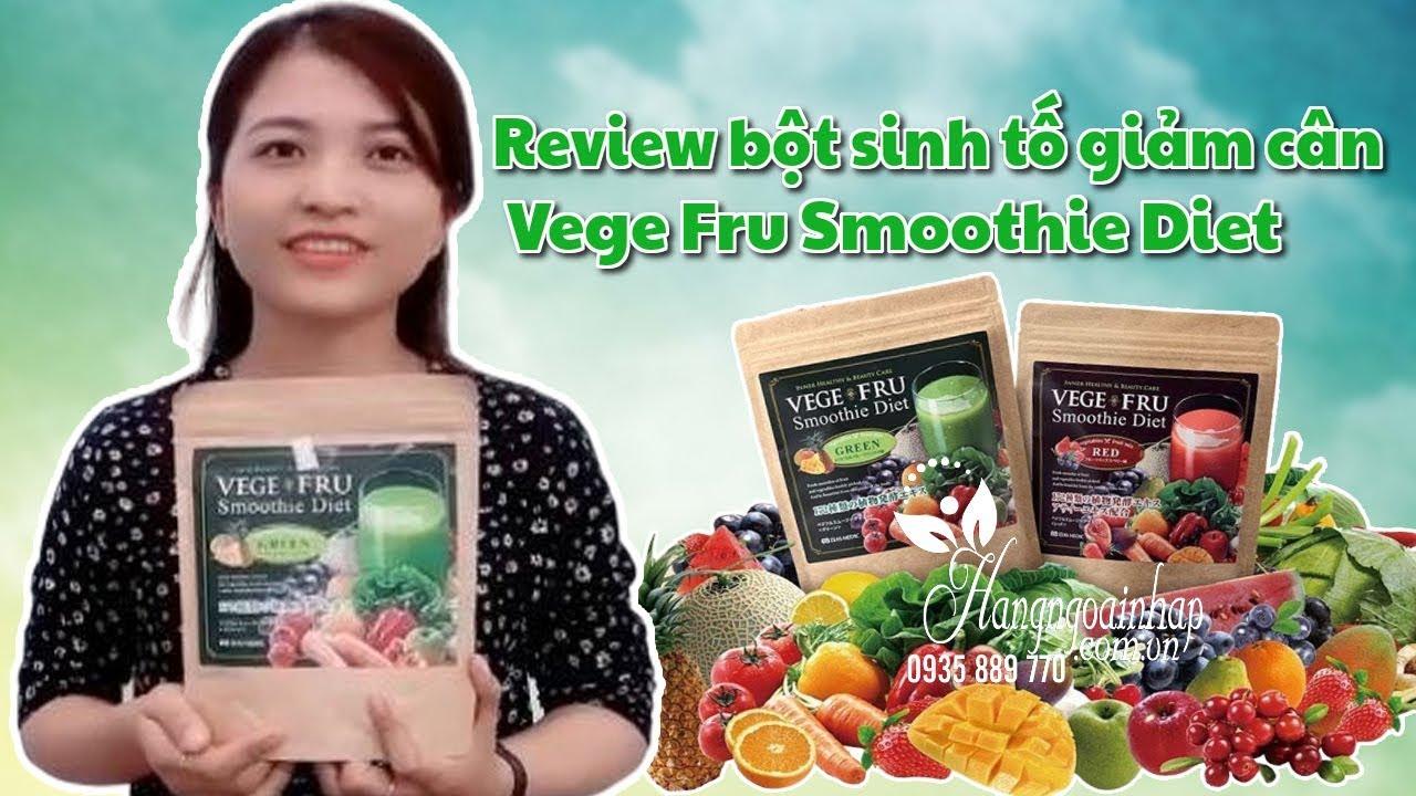 Review bột sinh tố giảm cân Vege Fru Smoothie Diet của Nhật