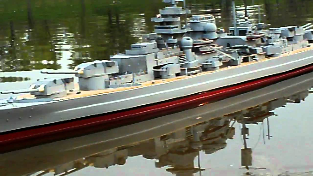1/144th scale r/c Bismarck model - YouTube