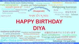 Diya   Languages Idiomas - Happy Birthday