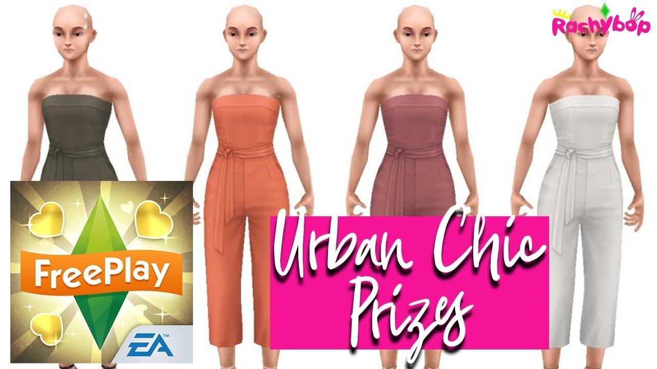 The Sims Freeplay Fashion Designer Hobby Event Urban Chic Prizes Youtube