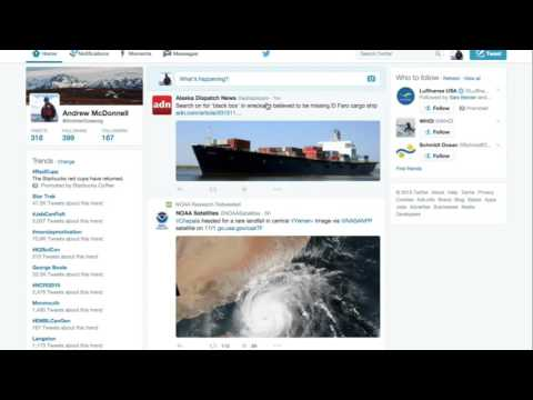 How to use Twitter as a News Aggregator for Ocean Science