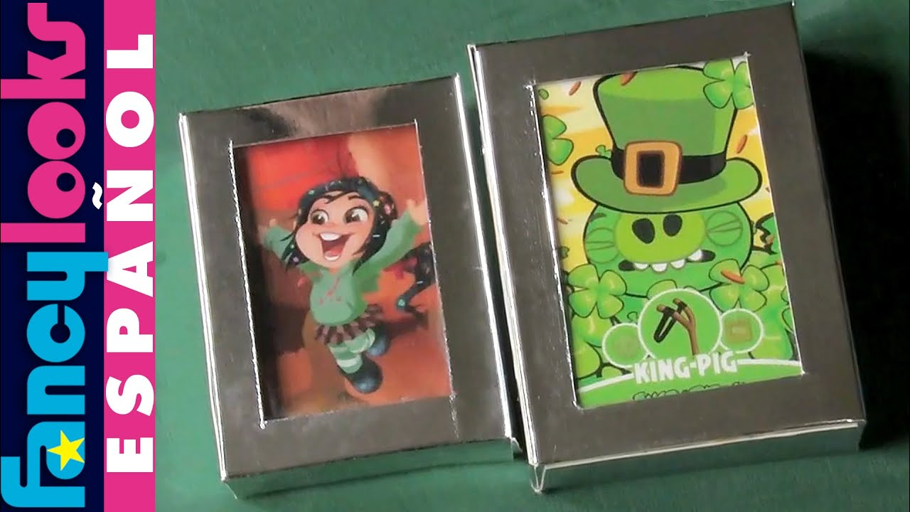 Caja para guardar cromos o tarjetas reciclando (baja plantilla ...
