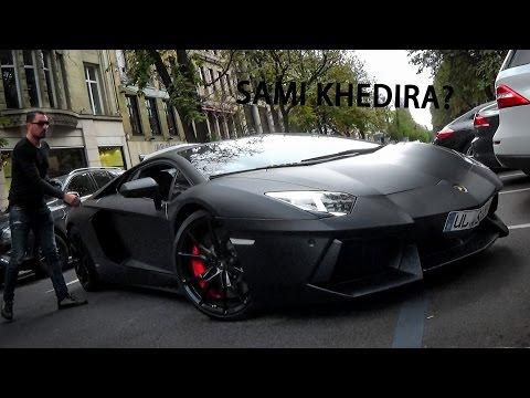 SAMI KHEDIRA´S Lambo in Düsseldorf?? Nero Nemesis Aventador Driving Scenes & Sounds!