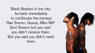 Rae Sremmurd - Black Beatles ft. Gucci Mane - Lyrics
