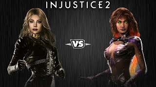 Injustice 2 - Чёрная Канарейка против Старфаер - Intros & Clashes (rus)