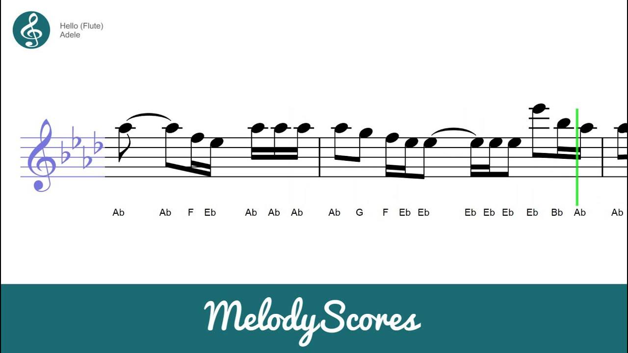 Flute Adele Hello Sheet Music