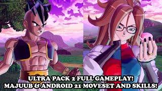 [ULTRA PACK 2 DLC GAMEPLAY] Majuub & Android 21 Moveset & Skills! Dragon Ball Xenoverse 2