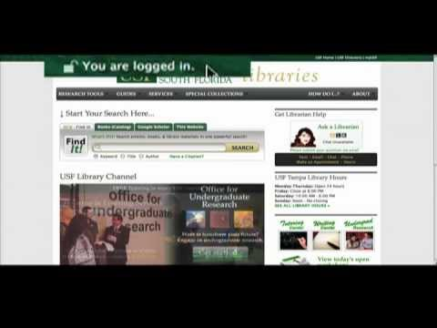 ProQuest Dissertations Database at USF