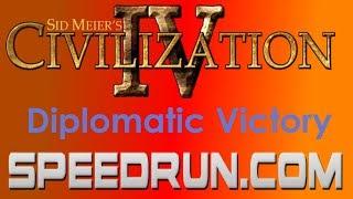 Sid Meier's Civilization IV Diplomatic Victory Speedrun in 4:04.36 [World Record]