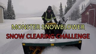 MONSTER SNOWBLOWER - SEASON 2!!  Clearing the cabin road after three weeks of snow