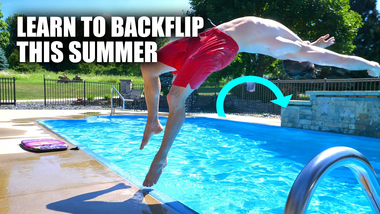 Learn How to Backflip On The Ground – Using a Pool