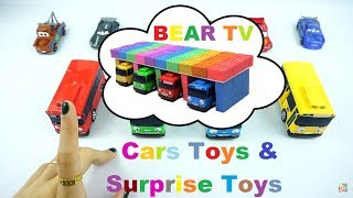 Learn Colors Kinetic Sand | Cars Toys & Surprise Toys | Videos For Kids