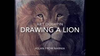 Drawing a Lion- Aslan from Narnia {Art Dolphin}