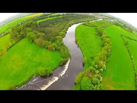Milford, Bagenelstown and the River Barrow From Above Co Carlow