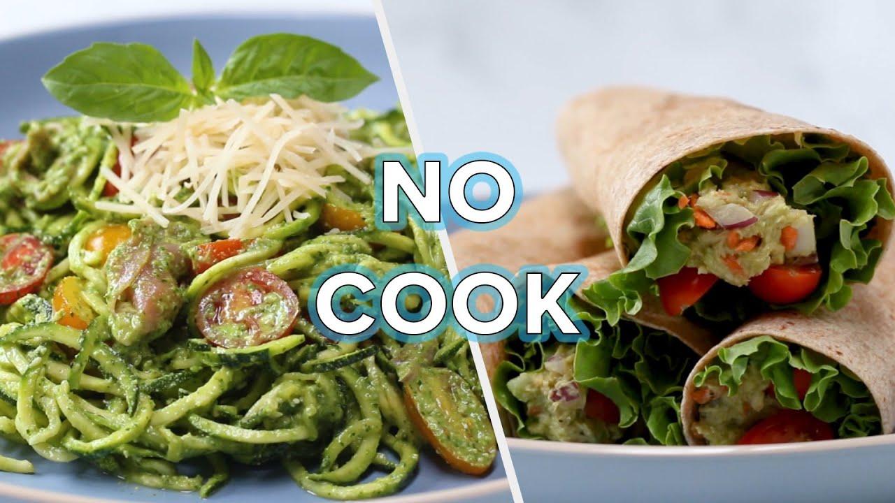 5 Healthy Delicious No Cook Recipes Youtube