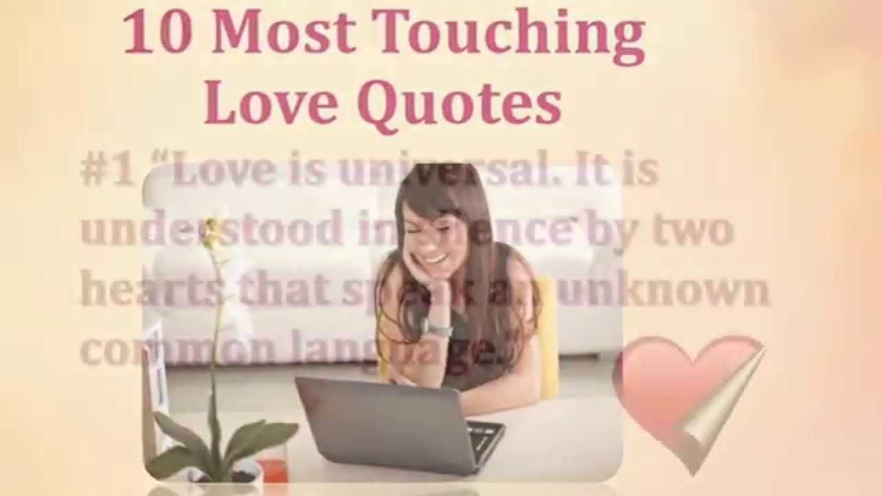 Touching Quotes About Love 10 Most Touching Love Quotes  Youtube