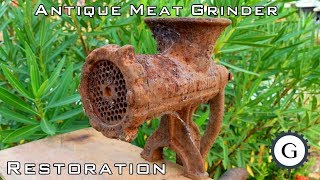 Antique Meat Grinder Restoration | Very Rusty Meat Grinder