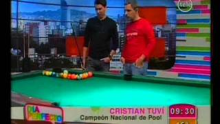 Christian Tuvi en DÍA PERFECTO (Parte 1) - Campeón Uruguayo de Pool - Canal 12