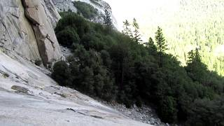 El capitan alcove swing (Yosemite)