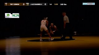 165 Pounds: Trey Cornish (Lehigh) vs. #4 Alex Marinelli (Iowa) | Big Ten Wrestling