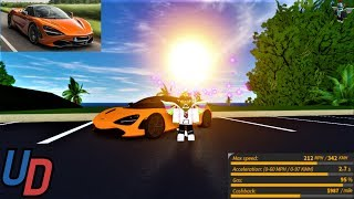 Review of the NEW McLaren 720s in Ultimate Driving Roblox