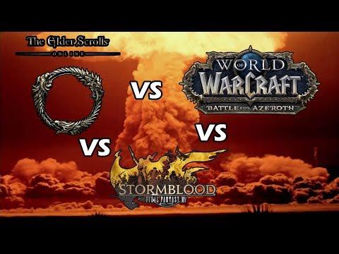 World Of Warcraft Vs Final Fantasy XIV Vs The Elder Scrolls Online !!!