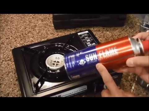 How to use a portable butane stove